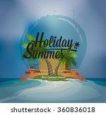 palm trees grunge summer... | Shutterstock .eps vector #360836018