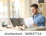 entrepreneur working with a... | Shutterstock . vector #360837716