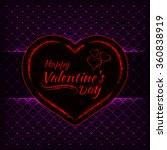 happy valentines day magenta... | Shutterstock .eps vector #360838919
