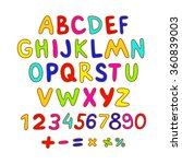 abc for kids art alphabet... | Shutterstock . vector #360839003