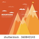 vector flat flag on mountain.... | Shutterstock .eps vector #360843143