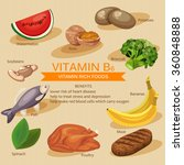 vitamins and minerals foods...   Shutterstock .eps vector #360848888