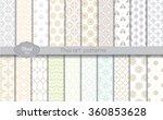 vector damask  pattern... | Shutterstock .eps vector #360853628