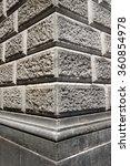 Ashlar Wall Made Of Grey Stone...