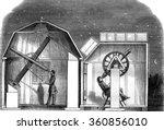 amateur observatories  interior ... | Shutterstock . vector #360856010