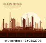 oil and gas refinery or... | Shutterstock .eps vector #360862709