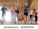 determined  group of young... | Shutterstock . vector #360862844