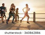 fit young people running on... | Shutterstock . vector #360862886