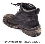 old dirty boots on a white... | Shutterstock . vector #360863273