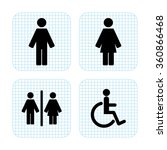 toilet  sign | Shutterstock .eps vector #360866468