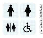 toilet  sign   Shutterstock .eps vector #360866468