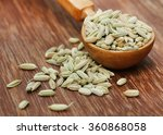 Fennel Seeds In A Wooden Spoon...