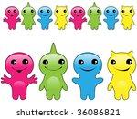 funny monsters | Shutterstock .eps vector #36086821