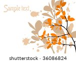 grange autumn background with... | Shutterstock .eps vector #36086824
