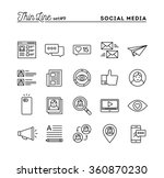 social media  communication ... | Shutterstock .eps vector #360870230