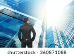 businessman looking at office... | Shutterstock . vector #360871088