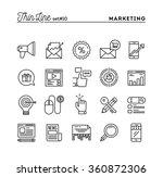 digital marketing  online... | Shutterstock .eps vector #360872306
