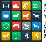 horse icons set.  | Shutterstock .eps vector #360875270