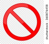 not allowed sign | Shutterstock .eps vector #360876458