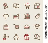 shopping web icons | Shutterstock .eps vector #360877604