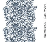 seamless drawing with flowers.  ... | Shutterstock .eps vector #360879704