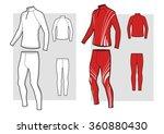 ski racing suit sketch | Shutterstock .eps vector #360880430