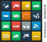 car icons set.  | Shutterstock .eps vector #360882536