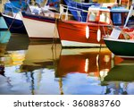 Colourful Fishing Boats In A...