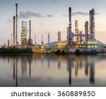 oil refinery in morning | Shutterstock . vector #360889850