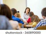 group of school kids raising...   Shutterstock . vector #360890000
