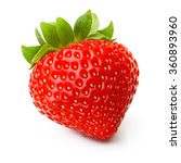 red berry strawberry isolated... | Shutterstock . vector #360893960