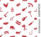 butcher and meat shop icons... | Shutterstock .eps vector #360894050