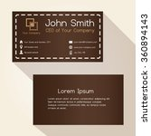 simple brown stitched like... | Shutterstock .eps vector #360894143