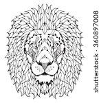 Lion Head Zentangle Stylized ...