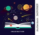 space exploration concept  ... | Shutterstock .eps vector #360909809
