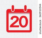 date calendar icon illustration ... | Shutterstock .eps vector #360910544