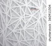 Modern Abstract Polygon Vector Design | Shutterstock vector #360911504