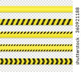 police line and danger tape set.... | Shutterstock .eps vector #360921188