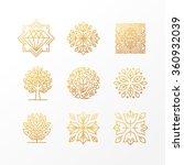 vector set of abstract golden... | Shutterstock .eps vector #360932039