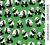 panda pattern seamless pattern...