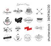 set of vintage sales label and... | Shutterstock .eps vector #360936230
