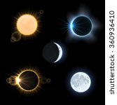 sun and moon and suns and moons ... | Shutterstock .eps vector #360936410
