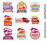 street food festival color... | Shutterstock .eps vector #360936443