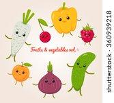 vector set of flat cartoon... | Shutterstock .eps vector #360939218