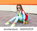 Fashion Little Girl Child With...