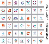 unusual icons set   isolated on ... | Shutterstock .eps vector #360944750