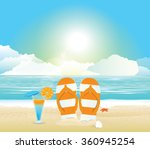 beach and tropical sea with... | Shutterstock .eps vector #360945254
