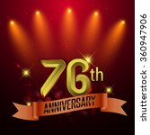 76th anniversary  party poster  ... | Shutterstock .eps vector #360947906