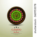 casino roulette wheel. vector...