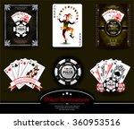 poker chip.casino background... | Shutterstock .eps vector #360953516